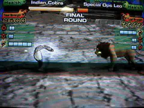 Animal Kaiser Indian Cobra ver2 hard fight