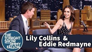 Lily Collins and Eddie Redmayne