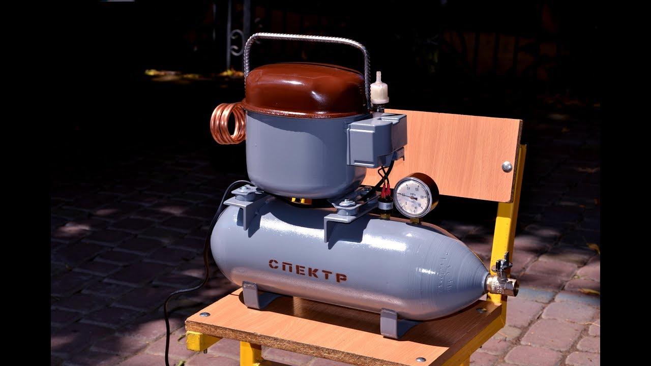 Самодельный компрессор на баллоне огнетушителя 2