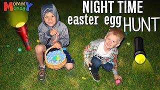 Flashlight Easter Egg Hunt!  ||  Mommy Monday