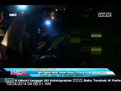[ANTV] TOPIK Ugal-Ugalan Mobil Tabrak Pohon, 2 Orang Tewas & 4 Orang Luka-Luka