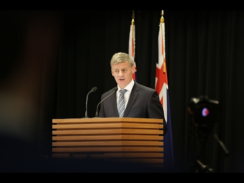 Bill English announces election date