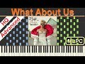 Pink - What About Us I Piano Tutorial & Sheets by MLPC MP3