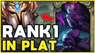 How RANK 1 Evelynn 1v9s Plats! RANK 1 EVELYNN GOING INTO PLATINUM! - League of Legends