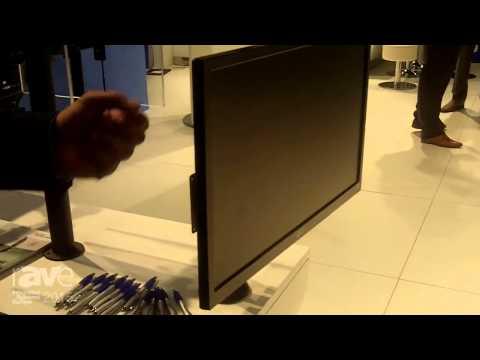 ISE 2015: NewStar Displays Their Multi-Screen Desk Mounts