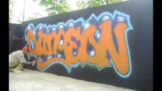 Graffiti making of by Göçmen