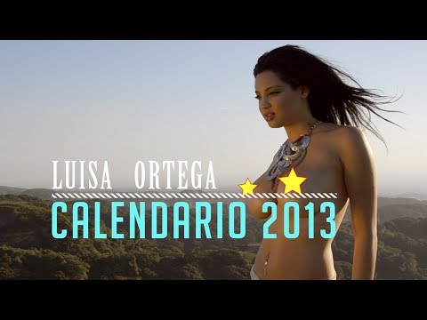 Luisa Ortega Making of Calendario 2013
