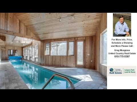 5902 North Lick Creek Road, Franklin, Tennessee Presented by Greg Musgrave.