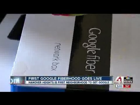 First customer gets Google Fiber