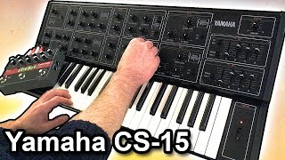 YAMAHA CS-15 synthesizer -- Ambient Chillout Music【SYNTH DEMO】