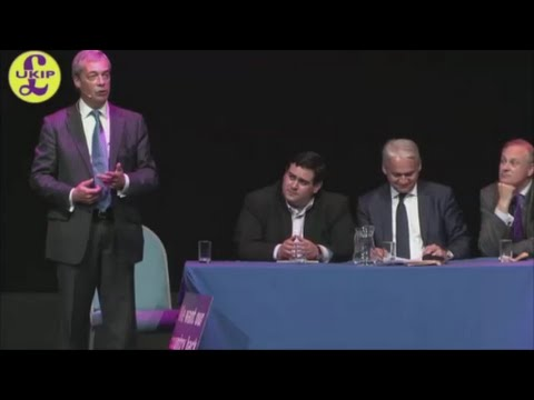 Nigel Farage Peterborough Brexit Q&A