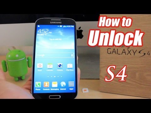 How To Unlock Samsung Galaxy S4 - Very simple and Easy!