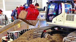 AMAZING RC EXCAVATOR POWERFUL MODEL MACHINE AT HARD WORK