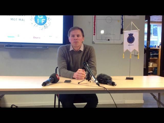 Presskonferens med Gefle IF:s nye tränre Roger Sandberg