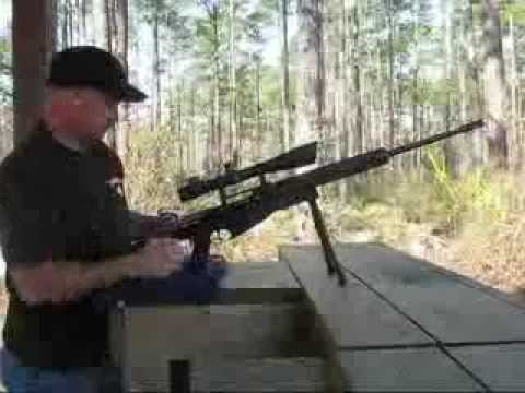Mosin Nagant Custom Sniper Rifle at Range
