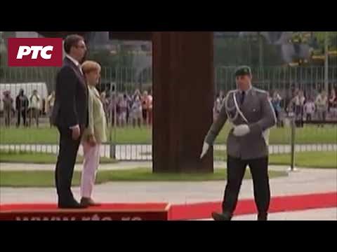 Doček Aleksandra Vučića u Berlinu