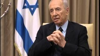 Journalist Ayaz Mirzayev take interview with The President of the State of Israel Shimon Peres .
