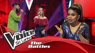 The Battles : Nuwanga Hasun V Sandali Harshani  | Saptha Swarayai | The Voice Sri Lanka