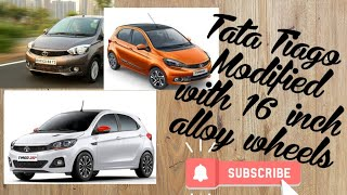 #Tatatiago #Tiago #Tiago Modified Tata Tiago Modified after market with 16 inch alloy wheels