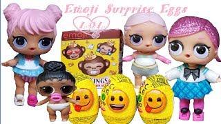 LOL Surprise Dolls found Emoji Eggs Surprise