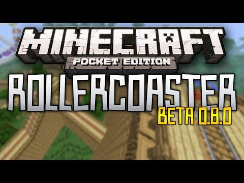 [0.8.0] THE BEST ROLLERCOASTER in Minecraft Pocket Edition - Acer Rollercoaster