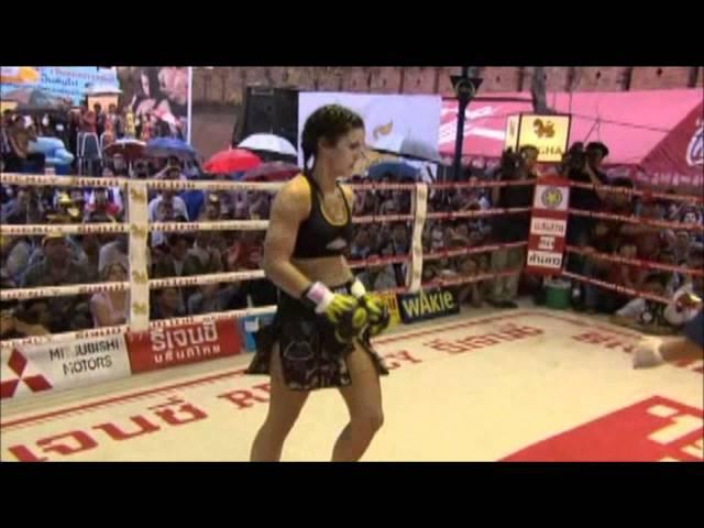 Gina Carano - Fight in Thailand