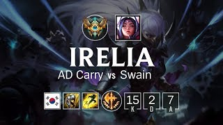 Irelia ADC vs Swain - KR Challenger Patch 8.12