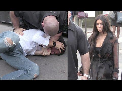 un hombre sorteo la seguridad y le beso el trasero a kim kardashian