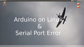 Arduino with linux & Serial port not found error