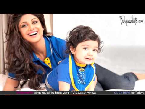 Shilpa Shetty shoots with son Viaan Raj Kundra for Hello! magazine