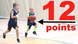 🏀Kid Scores 12 POINTS at Basketball Game!