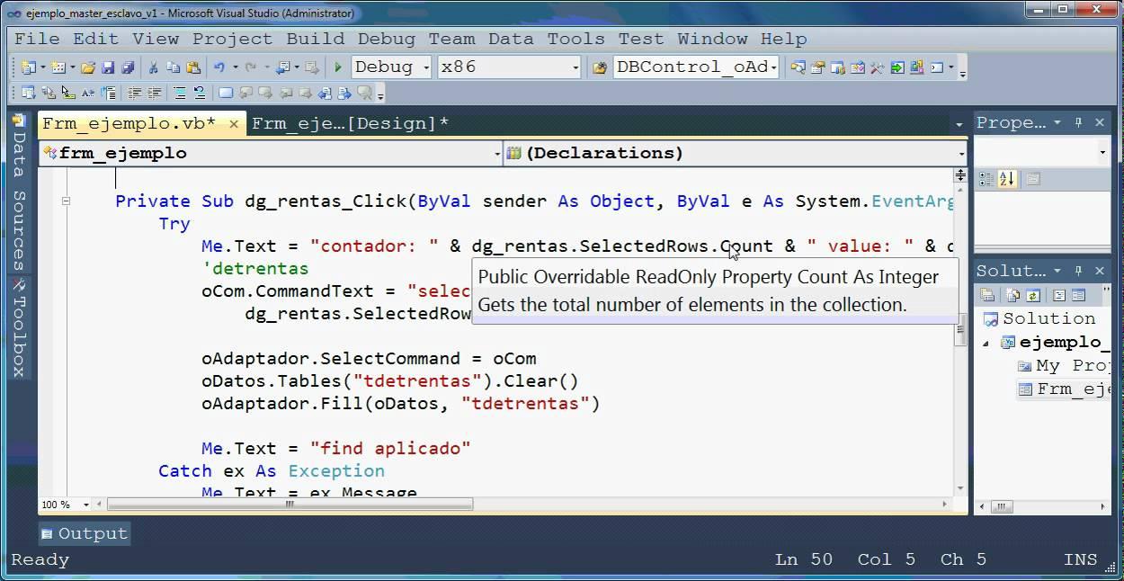 Tutorial Ms VB2010 usando VB.NET enlaza dos consultas