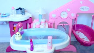 Baby Doll Nursery Toys for girls  change dolls diaper, baby toy videos for kids