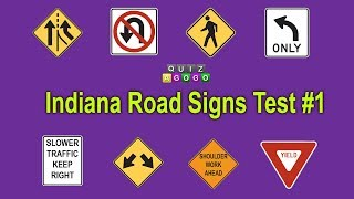 Indiana BMV Road Signs Test - No. 1