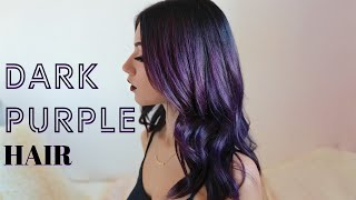 HOW TO: DARK PURPLE HAIR DYEING (At home)