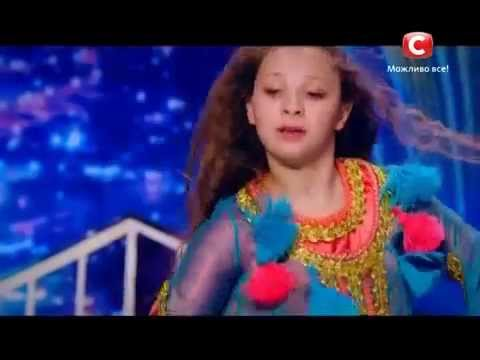 Little girl performed Moroccan dance on Ukraine's got talent-طفلة مغربية ترقص في اوكرانيا غوت تالنت thumbnail