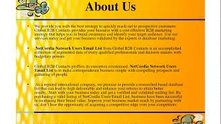 NetCordia Users Email List