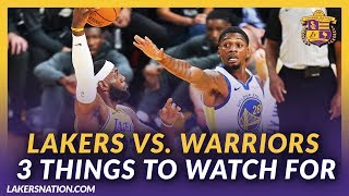 Lakers Preseason Preview: Lakers Vs. Warriors 3 Things To Watch For