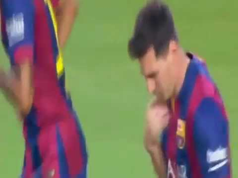 FC Barcelona 6 vs 0 Club León 18 août 2014 -Messi-