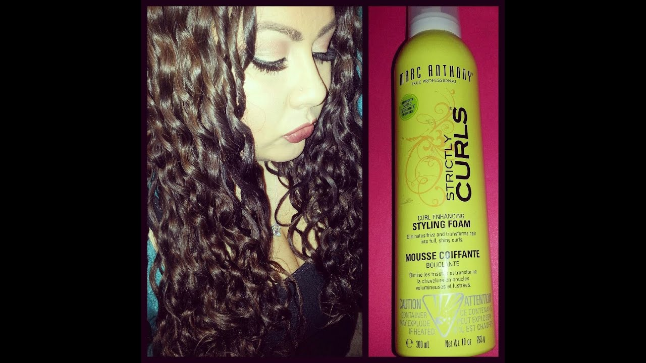 Marc Anthony Strictly Curls Styling Foam Review Youtube
