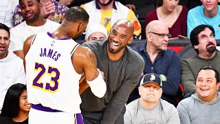 Kobe Bryant Impressed With LeBron James While Watching Courtside! Lakers vs Hawks 2019 NBA Season