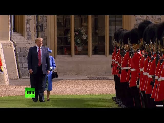 Peekaboo! Trump blocks Queen Elizabeth's way at official function