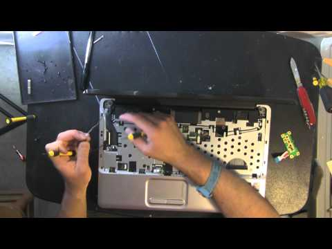 COMPAQ CQ60 laptop take apart video. disassemble. how to open disassembly