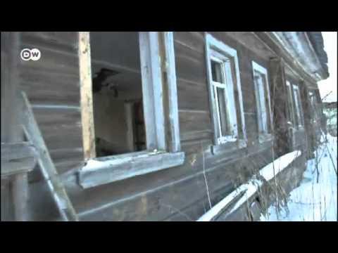 Суровая зима русской деревни