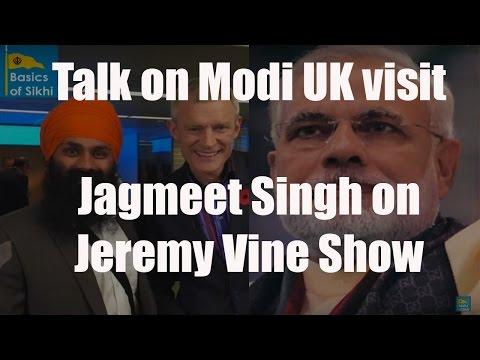Jagmeet Singh discusses PM Modi's UK visit on  BBC Radio 2's The Jeremy Vine Show