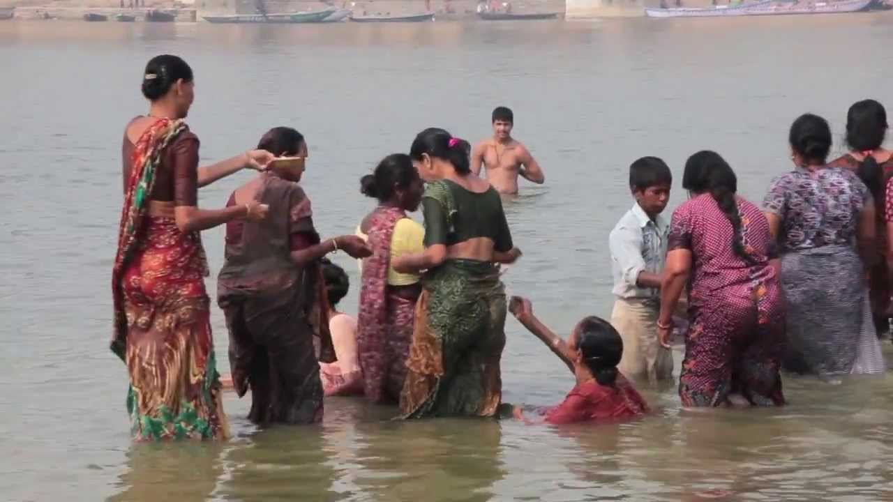 The other side of the ganges youtube for Bathing images