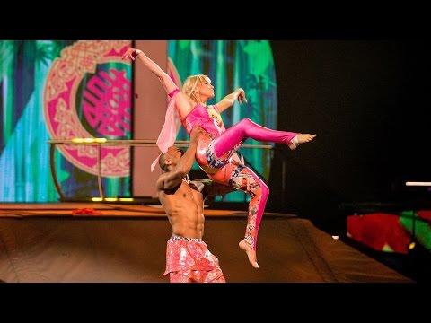 Sarah Harding & Leon Fagbemi's Trampoline Performance to 'Burn' - Tumble: Series 1 Episode 3