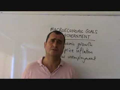 macroeconomic goals of government
