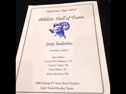 Hightstown High School 2013 Athletic Hall of Fame Induction Ceremony