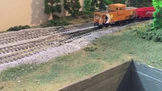 Via Rail Home Hardware scheme HO Scale Locomotive plus CP freight